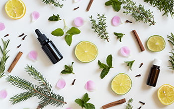 herbs and oils for aromatherapy