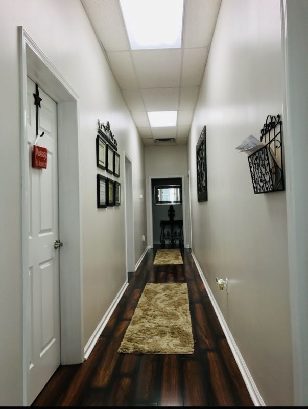 Hallway to treatment rooms at Rejuvenation Center
